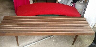 Mid-Century Modern slat bench/ coffee table