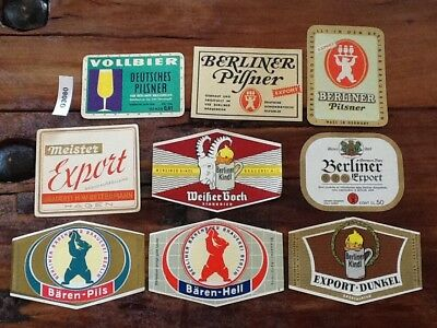 54 Older German beer labels
