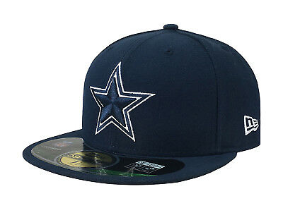 huge discount c2c51 d7367 New Era 59Fifty Cap Mens NFL Dallas Cowboys Navy Blue Star Fitted 5950 Hat