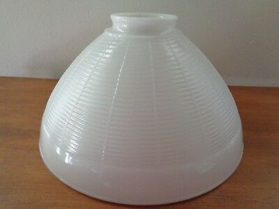 """Vintage Torchiere Diffuser Globe Shade for Floor Lamp White Milk Glass 10"""" Round"""