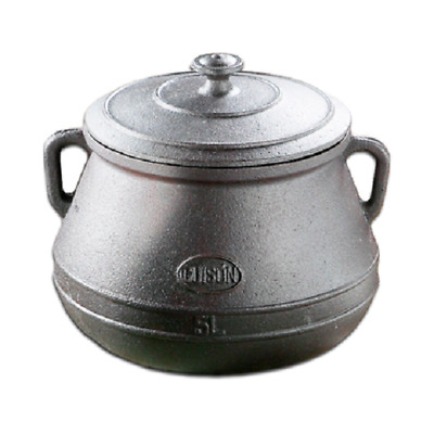 Guison 5 Litre Cast Iron Enamelled Pot Belly Saucepan - Made in Spain