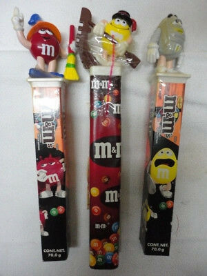 Vintage Collectible M&Ms Lot of 3 Halloween Sticks - 2002 & 2006