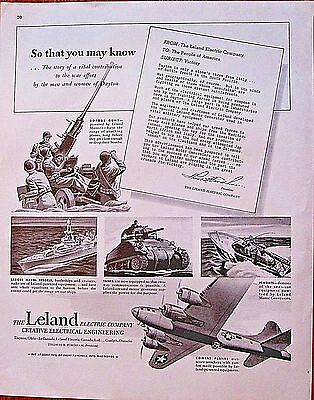 PT Boat, Tank, Battleship, Bomber in WWII Ad