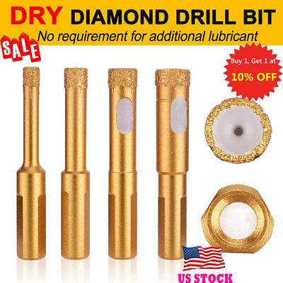 4PCS Dry Drilling Bit Diamond Drill Core Bits With Quick Fit Shank 6/8/10/12 MM
