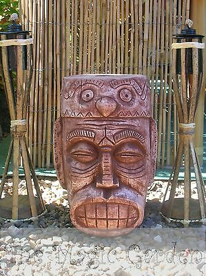 Totem head pole bamboo torch holdercement garden ornament latex molds moulds