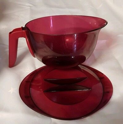 TUPPERWARE MICROWAVE JUG 1.5L - Ruby detachable handle easy storage
