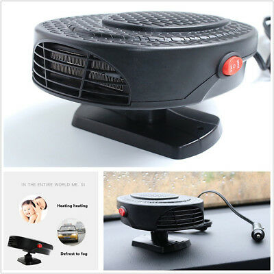 1X 150W Car Heater Warm/Cool Air Fan Windshield Demister Defroster Air-Purifying