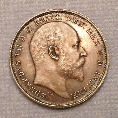 - Great Britain 1908 Edward VII Maundy Four Pence Fourpence Gem Uncirculated Unc