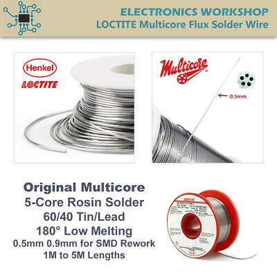 Multicore Rosin Solder Soldering Wire 5 Core Flux 0.5mm SMD Rework 1M to 5M