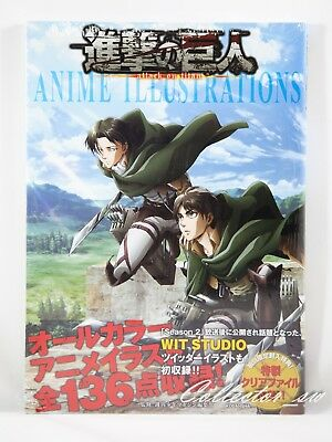3 - 7 Days | Attack on Titan Anime Illustrations Art Book + Clear File from JP