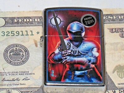 NEW Windproof Flame ZIPPO USA Lighter Mazzi 79353 Knight in Shinning Armor St Ch