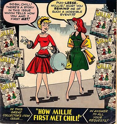 Millie The Model #100 Marvel Comics Book Stan Lee Scripts: Chili Cover (1961)