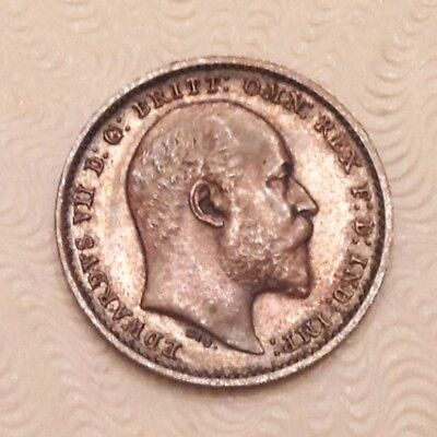 - Great Britain 1908 Edward VII Maundy Twopence / Two Pence Gem Uncirculated Unc