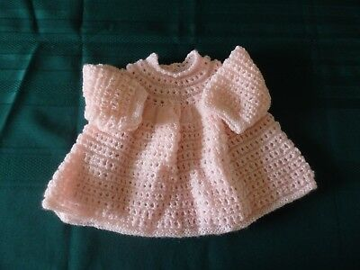 New Hand Knitted Angel top / dress - pink 000