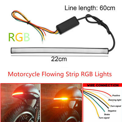 MOTORCYCLE SEQUENTIAL SWITCHBACK Flowing LED Tail Brake Turn