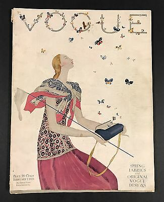 1924 Vogue Magazine February 1 ~ FASHION Styles ~ Benito Cover ~ Art Ads Paris