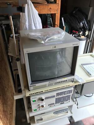 Olympus Bronchoscopy Tower with processor, light source, monitor & printer ONLY