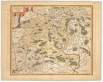 An Antique 17th/18th Century Map of Lithvania