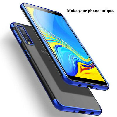 Plating Soft Silicone Soft Clear Case Cover For Samsung Galaxy A9 A7 2018 A6 A8