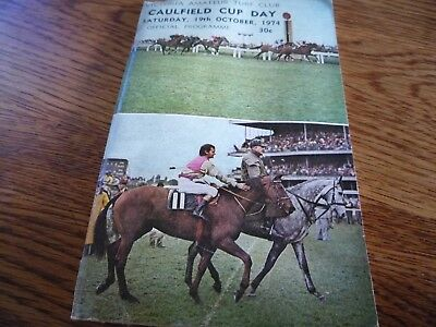 1974 Caulfield Cup.. Horse Racing Programme Race Book. Leilani