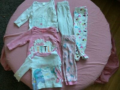 Baby Girls Pj Bundle 6-9 Months