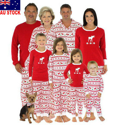 AU Kids Adult Family Matching Christmas Pajamas Sets Sleepwear Nightwear Pyjamas