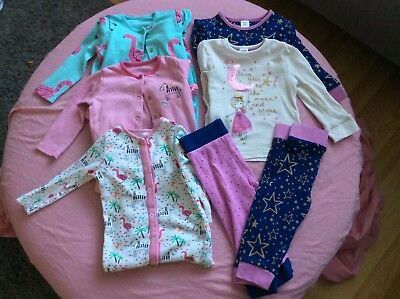 mixed sleepsuits/PJ bundle , baby girl, 9-12 months