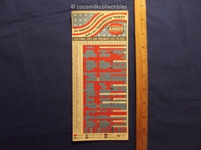 1936 American Amoco Gas Station Oil Ink Blotter Electoral Vote Elections 1932