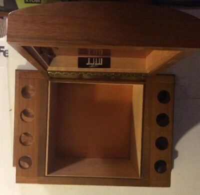 Alfred Dunhill London Vintage Wooden Copper Interior Humidor 8 Pipe Rack Perfect