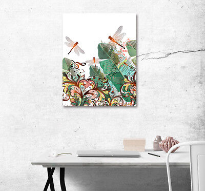 "16x20"" Dragonflies Notes Wall Art Poster Print On Home Decor New Canvas Painting"