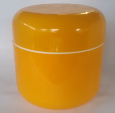 RETRO Decor Ice BUCKET Yellow white 3 piece DECOR Plastic Ice Bucket