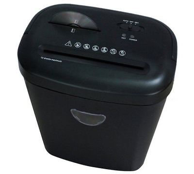 ProAction CD and Card Paper Shredder 12 Sheet 25 Litre Cross Cut A4 Auto on