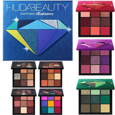 Huda Beauty Obsessions Eyeshadow Palette Gemstone Glitter Eye Shadow Makeup Set