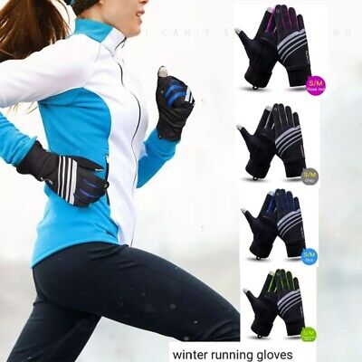 Ladies/mens Running gloves, winter S/M & L/XL,reflective &touchscreen,4 colours