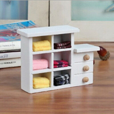 Wooden toys mini small cupboard shooting props dolls house furniture accessory_H