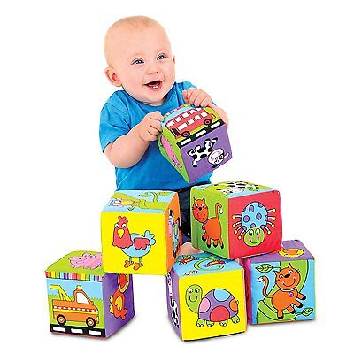 Galt Toys Baby Soft Blocks of Fun Colorful Baby Cubes Game