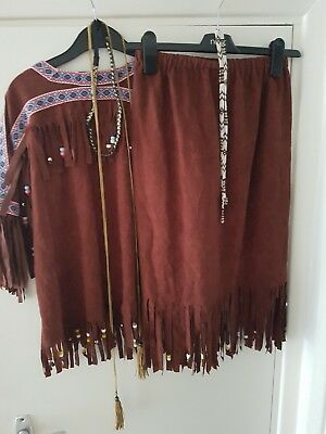 Girls Red Indian Costume age 10-12.