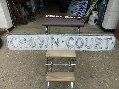 Original Street Road Sign by Royal Label Factory cast not enamel quirky