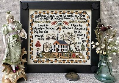 Cross Stitch Sampler Chart I WENT TO CHURCH from The Sampler Company. Brand new