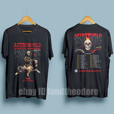 9028ba6d5e01 TRAVIS SCOTT ASTROWORLD Tour 2019 Men's T-Shirt with Dates Size : S - XXL