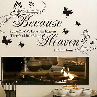 Because Someone We Love Is In Heaven Home Room Decor Vinyl Art Sticker ONE
