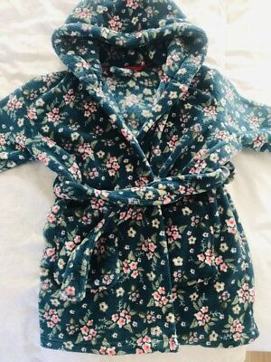 Next Girls Flower Dressing Gown 12-18 Months