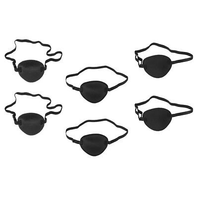 6pcs Medical Use Concave Eye Patches 3D Sponge Groove Eyeshades for Lazy Eye