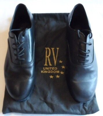 Mens Roch Valley Black Leather Ballroom Shoes, Size 91/2