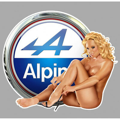 ALPINE PIN UP  left Sticker gauche