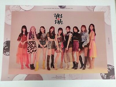 Twice - Yes Or Yes 6th Mini Album B Ver. Official Unfolded Poster New