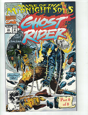 Rise of the Midnight Sons Ghost Rider  #31 (Marvel) Signed by Joe & Andy Kubert