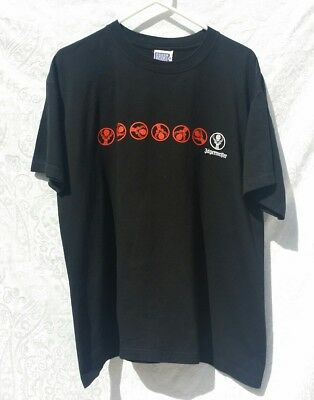 Jagermeister Black Logo T-Shirt Size Large Advertising Collectible Buck Cross