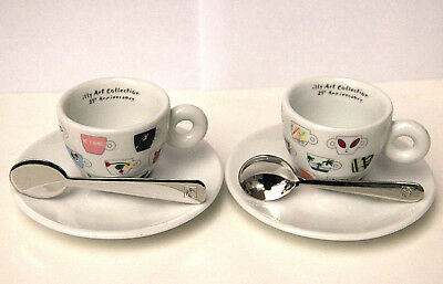 2 Cups Tazze Tazzine illy caffé Art Collection 25° Anniversary coffee set box