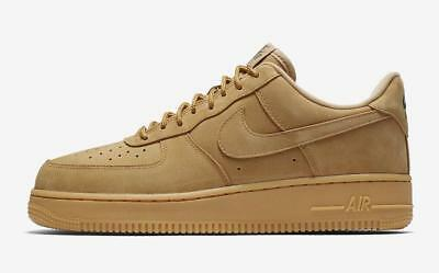 Mens Nike Air Force 1 Low Wheat Flax Gum Light Brown Outdoor Green AA4061-200